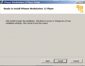 vmplayer installation